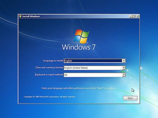 change windows 7 setup language