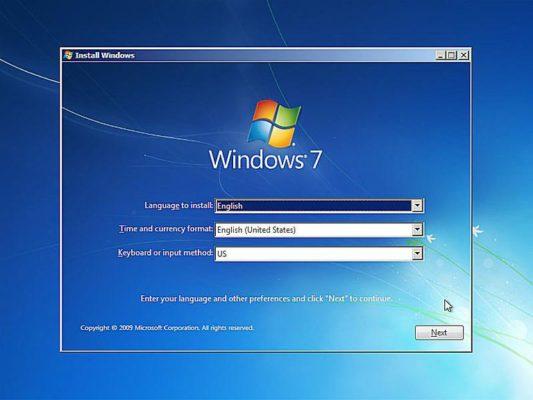 change windows 7 setup language