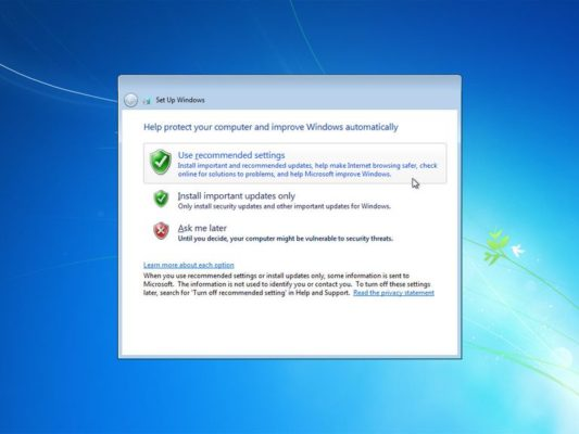 change windows update settings windows 7