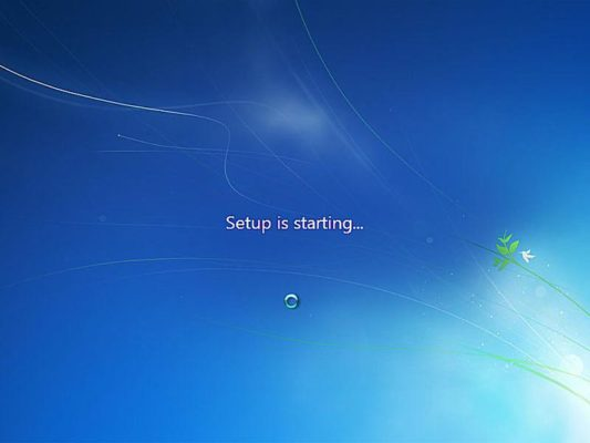 setup is starting windows 7