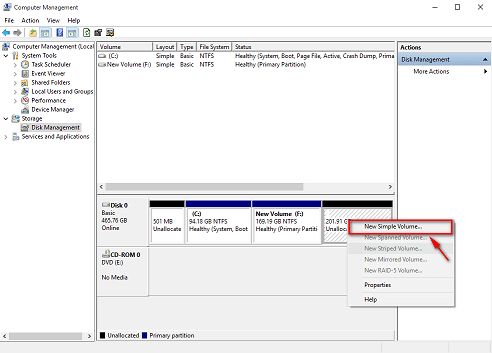 disk management in hindi