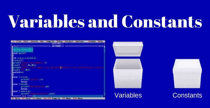 Variables and Constants in C Programming in Hindi