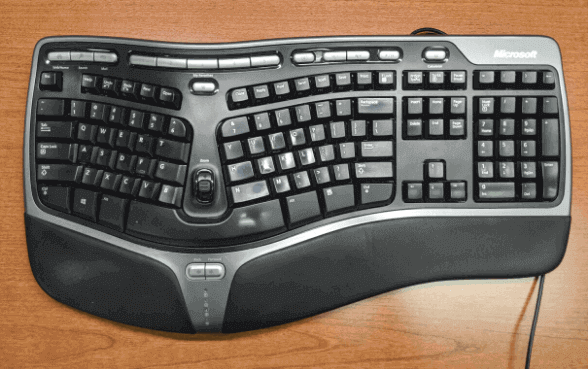 ergonomic keyboard in hindi